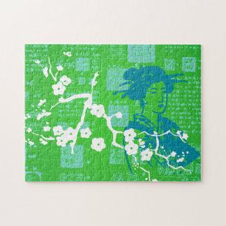 Collage del asiático del vintage puzzle