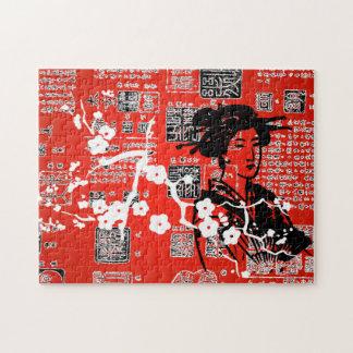 Collage del asiático del vintage puzzles
