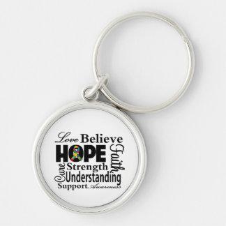 Collage del autismo de la esperanza llaveros personalizados