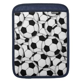 Collage del balón de fútbol mangas de iPad