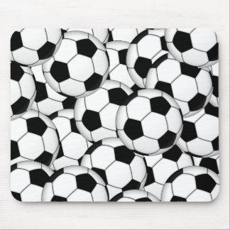 Collage del balón de fútbol mouse pads