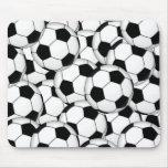 Collage del balón de fútbol tapete de ratones