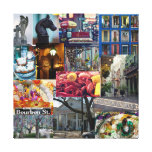 Collage del barrio francés impresiones en lona
