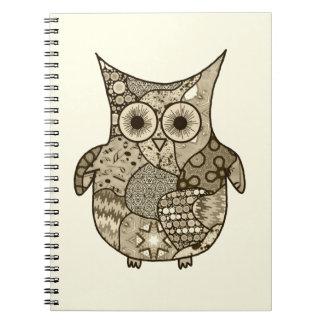 Collage del búho notebook