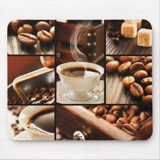 Collage del café alfombrilla de ratones