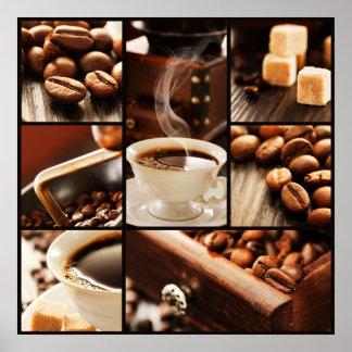 Collage del café posters