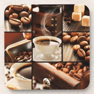 Collage del café posavasos de bebidas