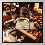 Collage del café póster