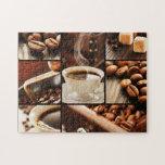 Collage del café puzzle con fotos