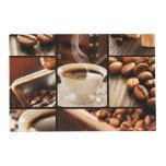 Collage del café salvamanteles