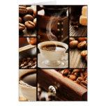 Collage del café tarjeta de felicitación