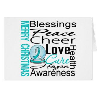 Collage del cáncer de cuello del útero del día de tarjeta de felicitación
