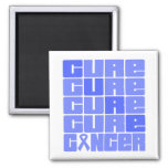 Collage del cáncer de estómago de la CURACIÓN Imanes Para Frigoríficos