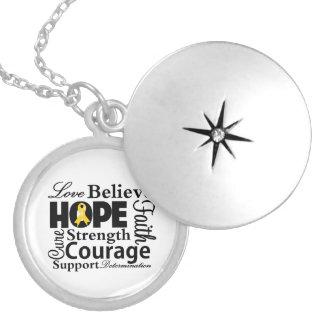 Collage del cáncer de la niñez de la esperanza medallones