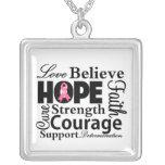 Collage del cáncer de pecho de la esperanza collares personalizados