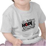 Collage del cáncer de sangre de la esperanza camiseta