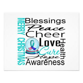 Collage del cáncer de tiroides del día de fiesta d invitaciones personalizada