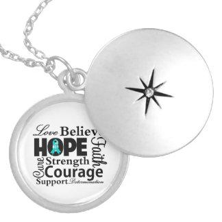 Collage del cáncer ovárico de la esperanza collares personalizados