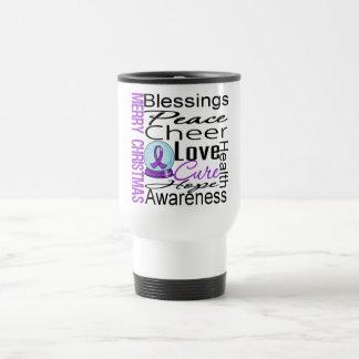 Collage del cáncer pancreático del día de fiesta d tazas de café