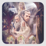 Collage del carácter de Rivendell Pegatina Cuadrada