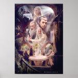 Collage del carácter de Rivendell Póster