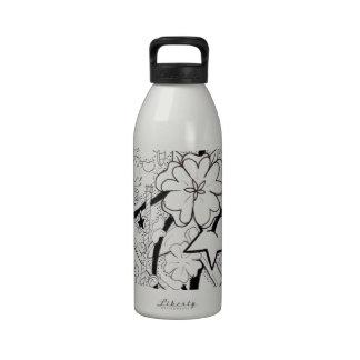 collage del caramelo botella de agua reutilizable
