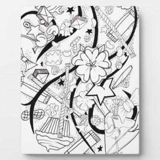 collage del caramelo placas para mostrar