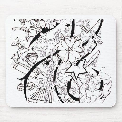 collage del caramelo tapete de ratón