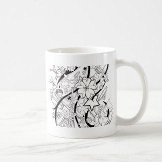 collage del caramelo taza clásica