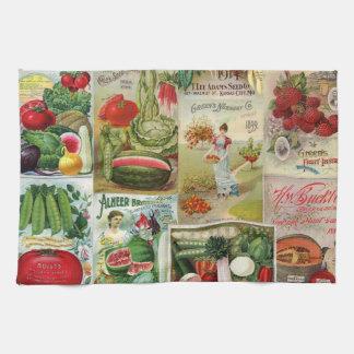 Collage del catálogo de la fruta y de semilla de l