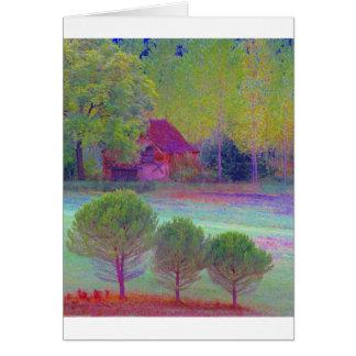 Collage del color de Dordoña Tarjeta De Felicitación