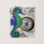 Collage del compás del Seahorse Puzzle