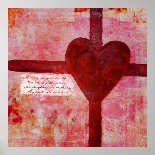Collage del corazón póster