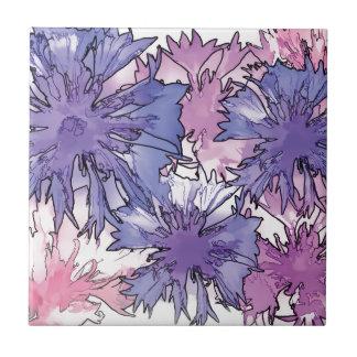Collage del Cornflower Azulejo Cuadrado Pequeño