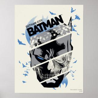 Collage del cráneo de Gotham City Batman Posters
