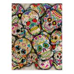 Collage del cráneo del azúcar postal