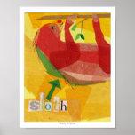 Collage del Critter de la pereza Posters