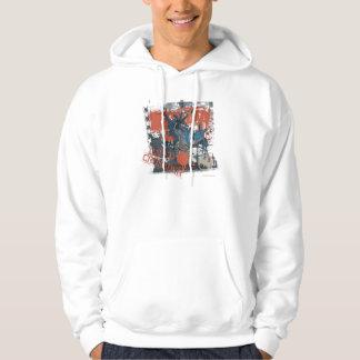 Collage del cruzado del cabo pulóver con capucha