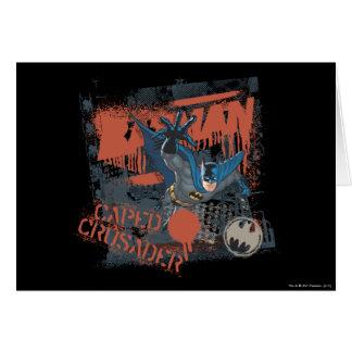 Collage del cruzado del cabo tarjeta de felicitación