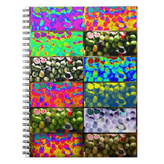 Collage del cuaderno del vendedor de la sandía