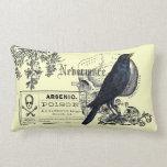 Collage del cuervo de Edgar Allen Poe Cojines