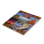 Collage del desierto de Arizona Azulejos Cerámicos