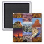 Collage del desierto de Arizona Imán Cuadrado