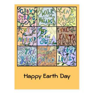 collage del Día de la Tierra Tarjetas Postales