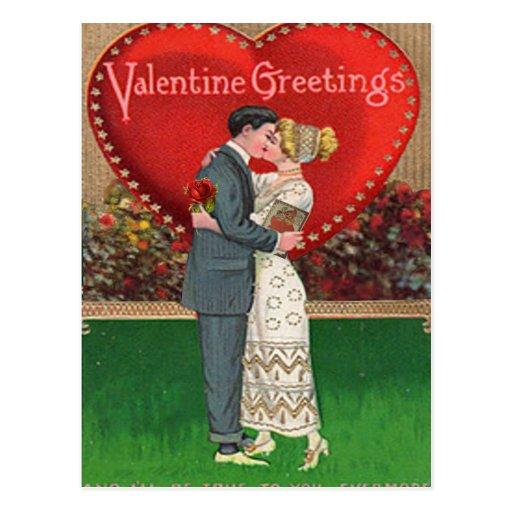 Collage del el día de San Valentín del vintage Postal