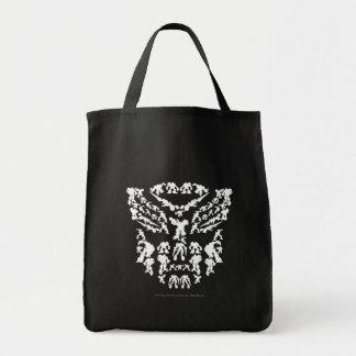 Collage del escudo de Autobot (blanco) Bolsa De Mano