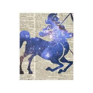 Collage del espacio de Archer del Centaur sobre la Impresión En Tela