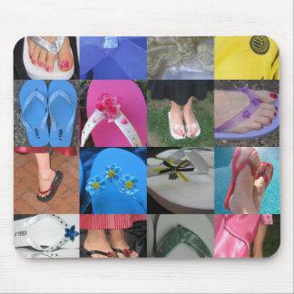 Collage del flip-flop alfombrillas de raton