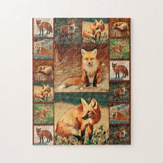 Collage del Fox rojo Puzzle