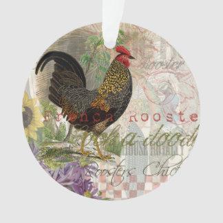 Collage del francés del gallo del vintage